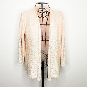 Alfred Dunner sequin cardigan pink PXL